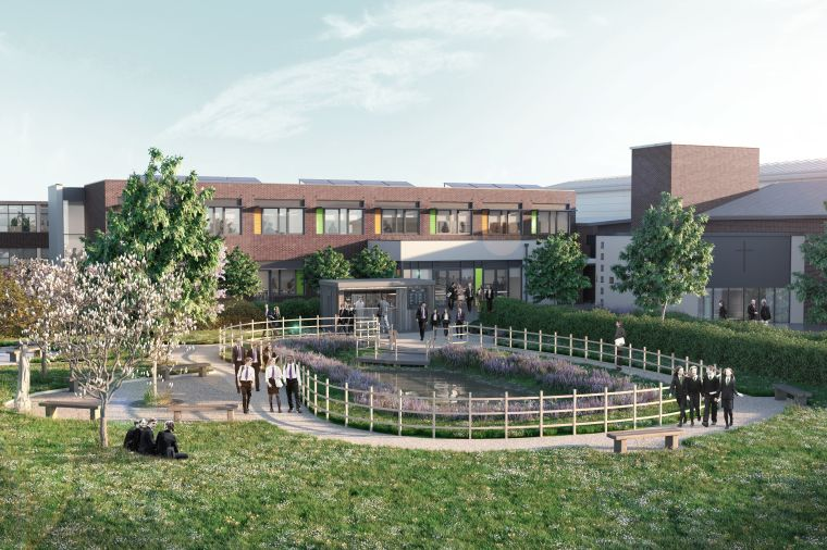 Sustainable school buildings with a green heart