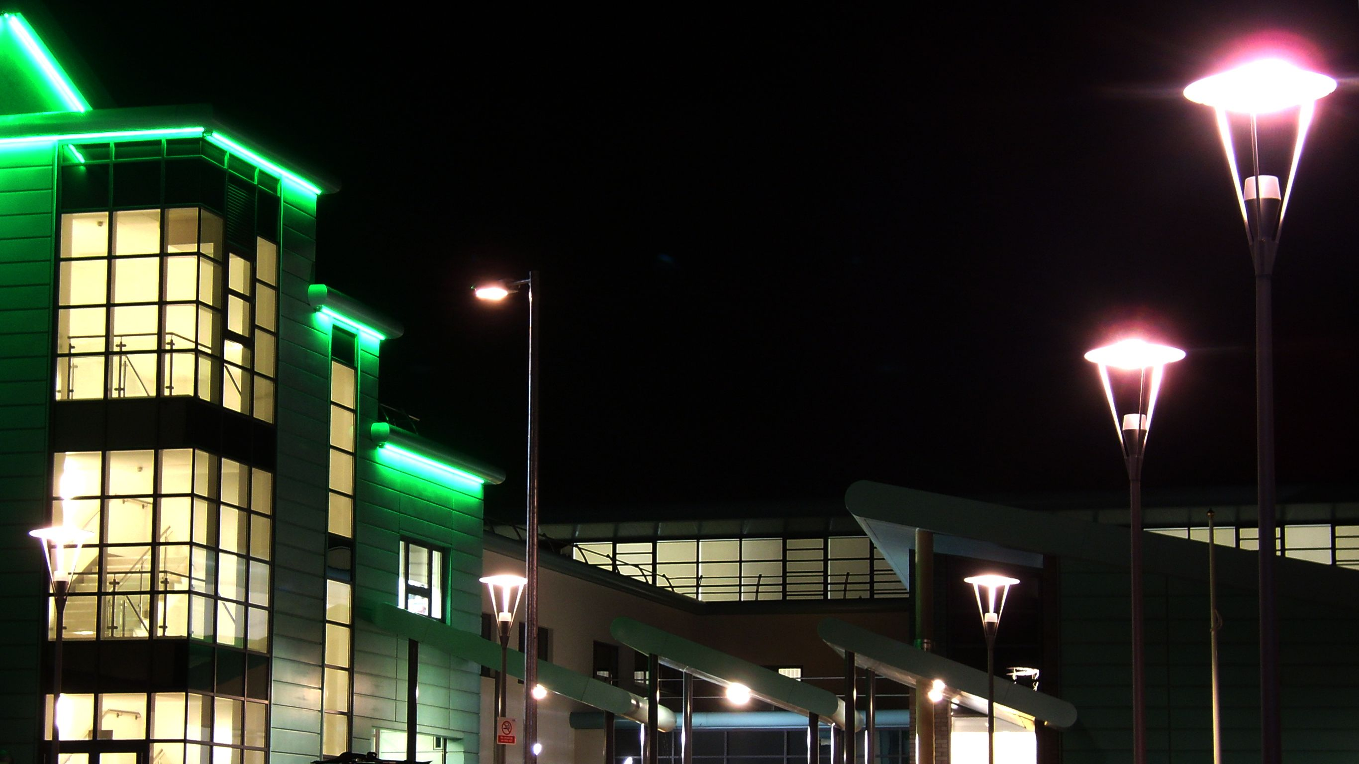Selby Community Project exterior at night